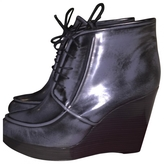 Salvatore Ferragamo Grey Leather Ankle boots