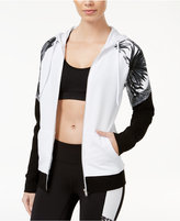 Material Girl Juniors' Palm Printl Zip-Up Hoodie, Only at Macy's