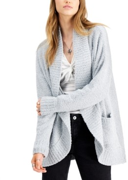 Say What Juniors' Plush Open-Front Cardigan