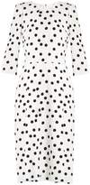 Dolce & Gabbana Polka-dot crepe dress