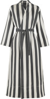 Joseph Laurence Striped Cotton And Silk-blend Wrap Dress - White