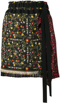 No.21 tie-waist floral skirt - women - Silk - 38