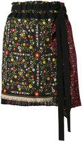 No.21 tie-waist floral skirt - women - Silk - 42