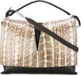 Jil Sander snakeskin flap tote - women - Calf Leather/Snake Skin - One Size
