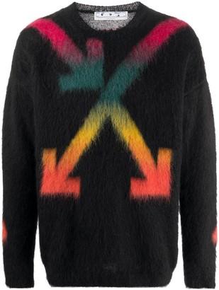 Off-White Black Multicolored Arrow Logo Sweater