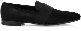Salvatore Ferragamo Bryden Calf Hair Leather Loafers