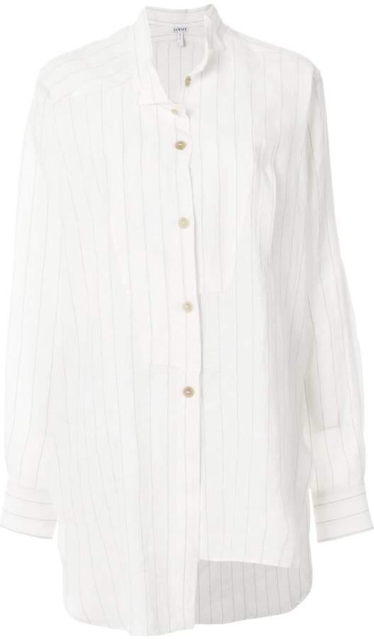 Loewe asymmetric striped skirt