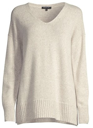 Lafayette 148 New York Chine Sequined V-Neck Sweater
