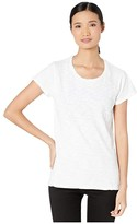 True Grit Dylan By Dylan by Soft Slub Cotton Classic Crew Neck Tee (White) Women's Clothing