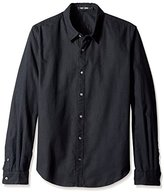 BLK DNM Men's Long Sleeve Button-Up Shirt
