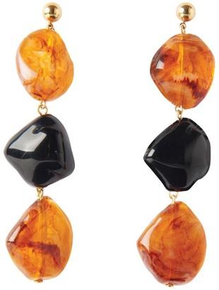 Pietrasanta Elegant Black Statement Earrings