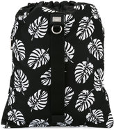 Dolce & Gabbana palm print drawstring backpack