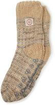 Dearfoams Space-Dye Textured Knit Flurry Slipper Socks