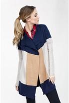 Select Fashion Fashion Womens Brown Col Block Waterfall Cardigan - size 10