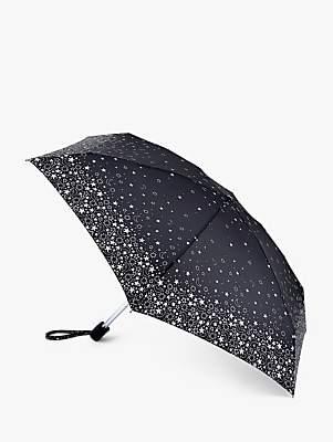 Fulton Lunar Stars Telescopic Umbrella, Black