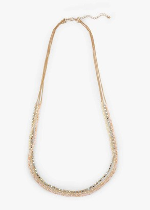 Phase Eight Marcella Triple Row Facet Stone Necklace