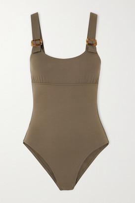 Eres Locket Embellished Swimsuit - Taupe