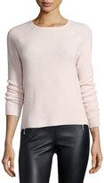 Elizabeth and James Karina Waffle-Knit Long-Sleeve Cashmere Sweater