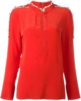 Pierre Balmain buttoned detail flared shirt - women - Silk - 36