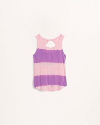 Splendid Girls Tie Dye Stripe Tank
