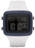Diesel Digital White Resin Strap 50M Men's Watch #DZ7215