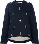 Marni embroidered sweatshirt - women - Cotton/Polyamide - 38