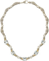 Lagos Prism Silver, 18k & White Topaz Link Necklace