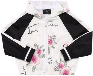 MonnaLisa Printed Nylon Jacket W/ Hood