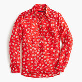 J.Crew Classic popover in falling floral