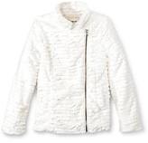 Cherokee Girls' Faux Fur Fashion Overcoat Cream XL
