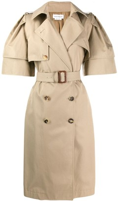 Alexander McQueen Wild Short Sleeve Trench Coat