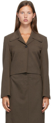 Low Classic Brown Short Blazer