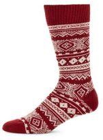 Barbour Fair Isle Motif Socks