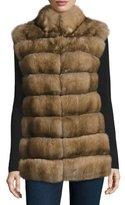 Fabio Gavazzi Cashmere-Belt Sable Vest