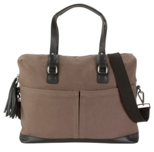 Hadaki Canvas and Genuine Leather Work Bag