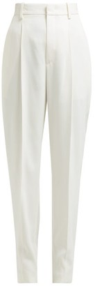 Isabel Marant Poyd High-rise Tailored Trousers - Womens - White