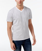Alfani Men's Stripe V-Neck T-Shirt, Created for Macy's