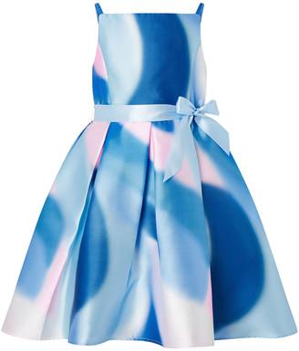 Monsoon Mermaid Marble Hi-Low Dress Blue