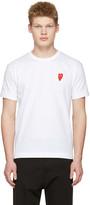 Comme des Garcons White Long Heart Face T-shirt