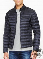 Hackett Lightweight Down Fill Moto Jacket