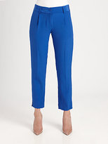 Milly Nicole Cropped Silk Pants