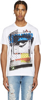 DSQUARED2 White Logo & Pictures Chic Dan T-Shirt