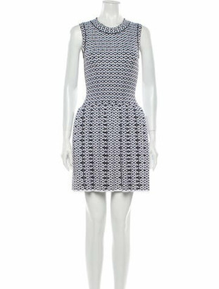 Alaia Fit & Flare Mini Dress White