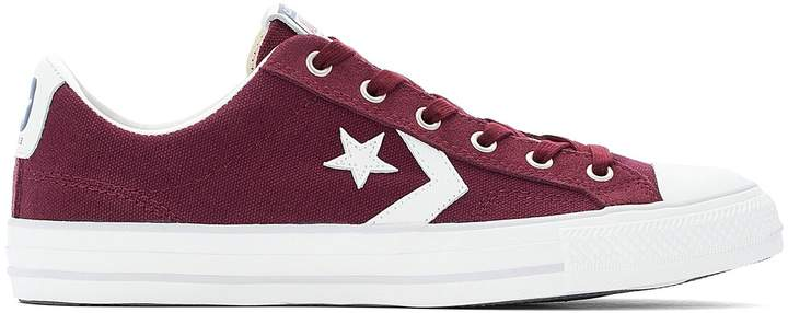 Star Player Canvas Suede Low Top Trainers