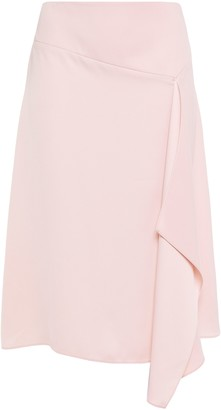 DKNY Draped Satin-crepe Skirt