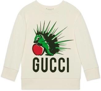 Gucci Children's hedgehog print cotton sweatshirt