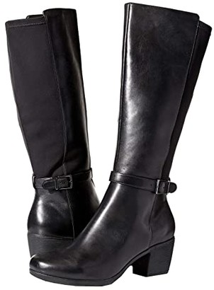 Clarks Un Lindel Hi (Black Leather/Textile Combi) Women's Boots