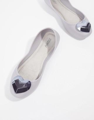 Zaxy Heart Flat Shoes