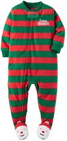 "Carter's Girls 4-12 One-Piece ""Santa's Favorite"" Pajamas"