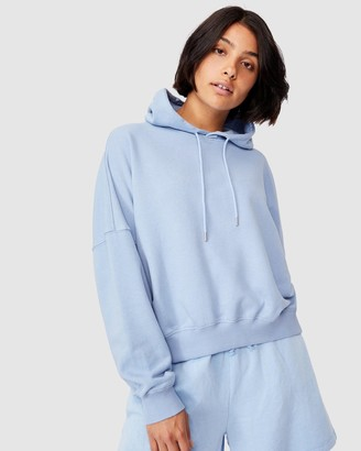 Cotton On Women's Blue Hoodies - Your Favourite Hoodie - Size XS at The Iconic